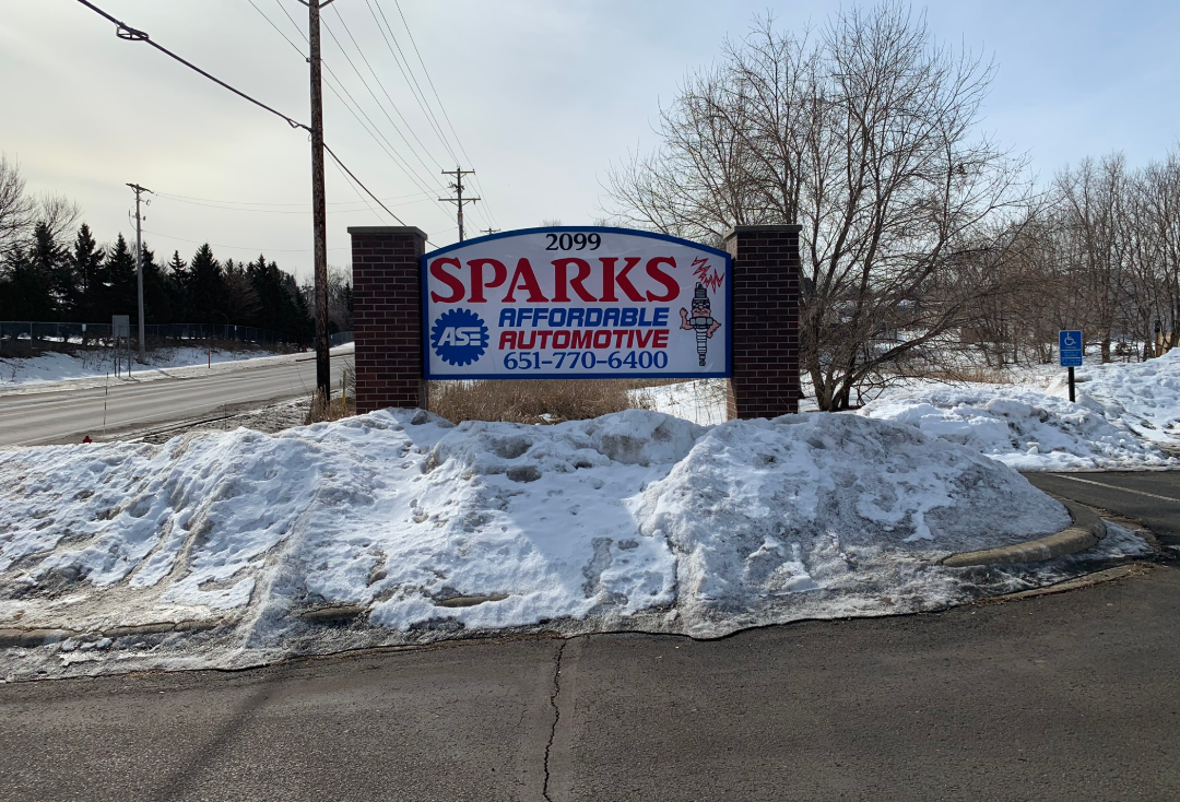 sign for new location of SPARKS Affordable Automotive